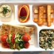 Veggie kebab bento box