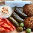 Individual falafel & dips plate