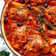 Chicken Cacciatore with Steamed Rice