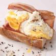 Bacon & egg baguette