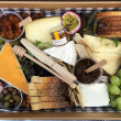 Premium cheese and fruit platter