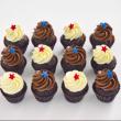 Chocolate mini cupcakes (12 pcs)