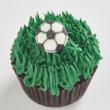 Soccer Ball mini cupcakes