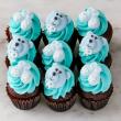 Baby boy mini cupcakes (12 pcs)