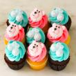 Baby boy & girl mixed mini cupcakes (12 pcs)