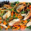 Garden salad with chicken