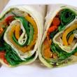Roasted vegetables roti