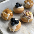 Mini Doughnuts With Lemon Drizzle And Assorted Toppings