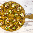 Sweetcorn fritters & salsa
