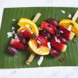 Fresh fruit skewer