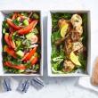 Greek style roasted chicken platter