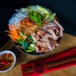 BBQ pork noodle salad