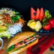 Banh mi, noodle salad & fruit platter