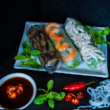 Assorted rice paper rolls (3pcs)