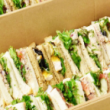 Assorted traditional sandwiches