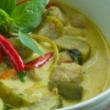 Thai green curry (medium hot)