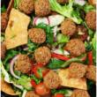 Fattoush & falafel salad