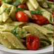 Chicken pasta pesto salad