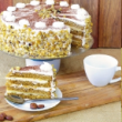 Coffee & custard torte