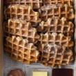 Vanilla waffles platter (20 pcs)