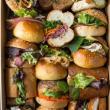 Assorted gourmet rolls