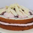 Flourless raspberry mousse cake