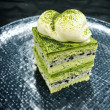 Mini Matcha green tea & roasted black sesame cake (12 pcs)