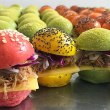 Gourmet coloured sliders box 1  (24 pieces)