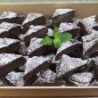 Dark chocolate & raspberry brownie