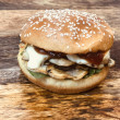 Grilled mushroom roll