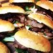 Asian char sui pork burger
