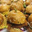 Buttermilk fried eggplant burger