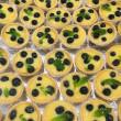 Lemon & lime tart, fresh berries
