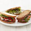 Rustic sourdough sandwiches