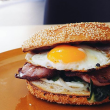 Bacon and egg bagel