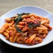 Organic tomato sauce pasta
