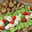 Falafel mezze salad