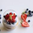 Vanilla & blueberry chia pots