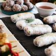 Mini rice paper rolls