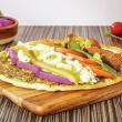 Oregano falafel loaded wrap