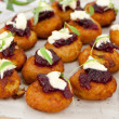Chickpea & sweet potato fritter