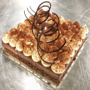 Dark Chocolate & Hazelnut Crunch Mousse Cake