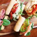 Assorted gourmet baguette rolls
