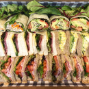 Assorted triangle sandwiches & wraps