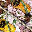 Premium meat and antipasto platter