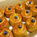 Orange and almond semolina cake box (6pcs)