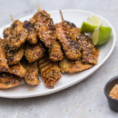 Moroccan chicken skewers