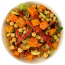 Chickpea and pumpkin salad