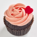 Chocolate strawberry cupcake