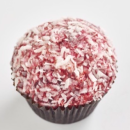 Red Velvet lamington cupcake